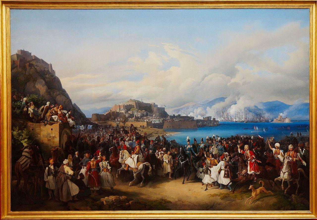 Peter von Hess - Einzug König Ottos von Griechenland in Nauplia
